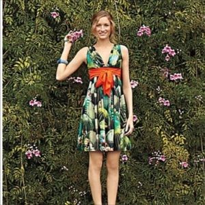 Anthropologie Dresses - Anthropologie-Eva Franco Floral Red Sash Dress